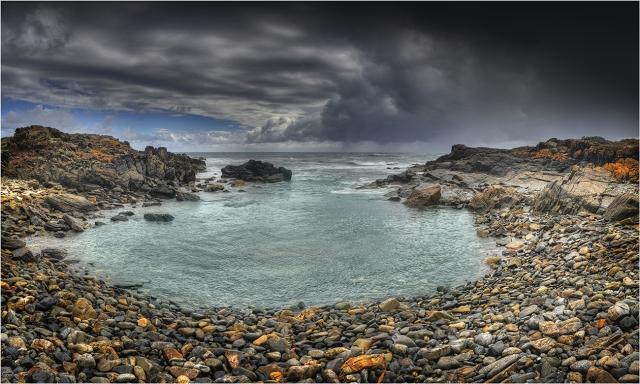Appraoching-Storm-Wickham-Cove-KI0580-18x30 copy
