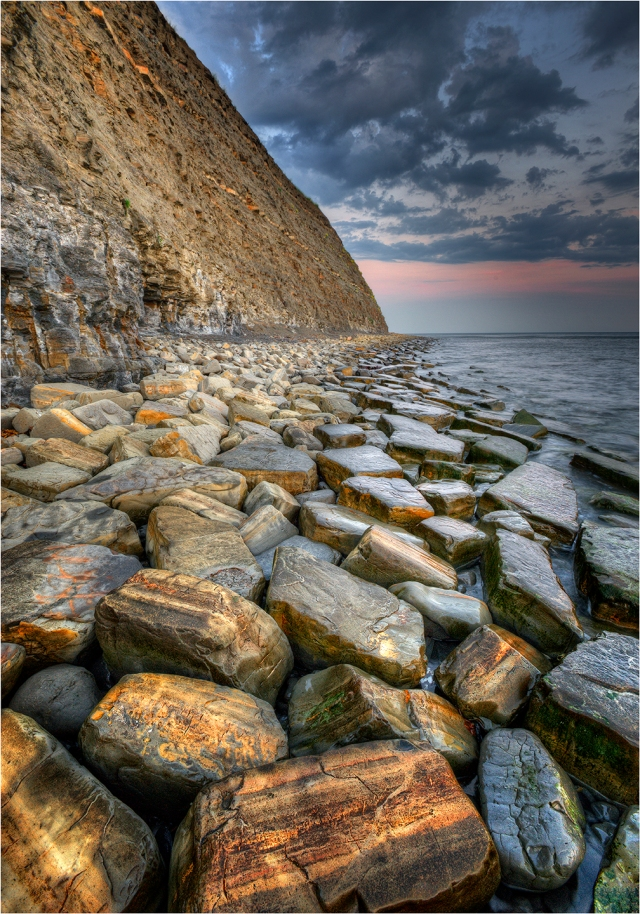 Kimmeridge-Bay-Cliffs-at-Dusk-E0538-14x20 copy